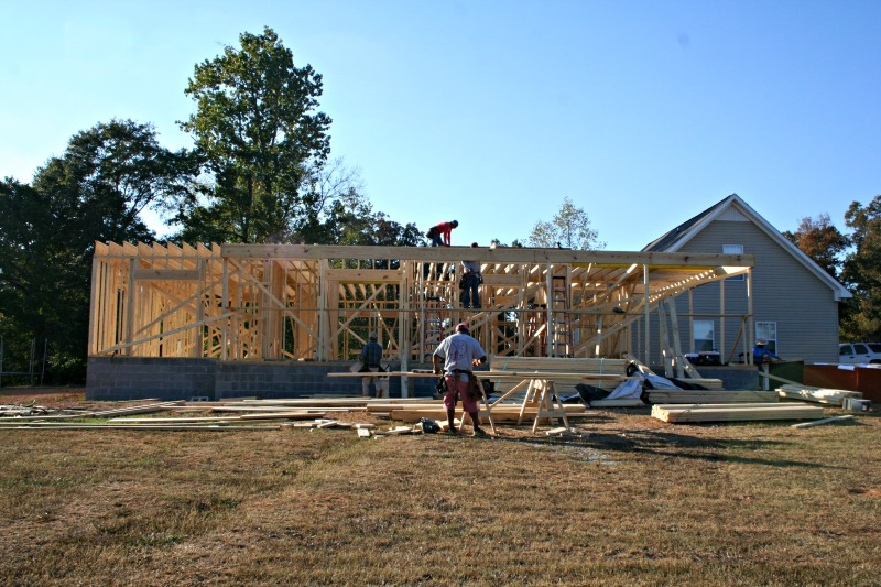 Building a house framing first floor our alabama life for Building a house in alabama