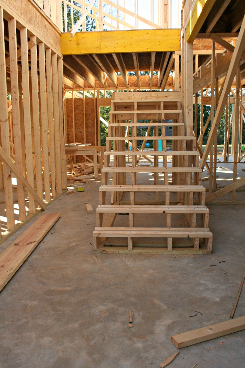 building a house framing  first floor our alabama life